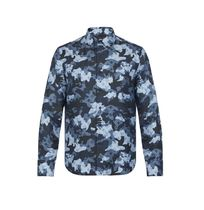 Louis Vuitton Button-down Camouflage Monogram Silk Long Sleeves Shirts