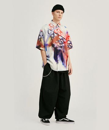 Street Style Oversized Front Button Shirts