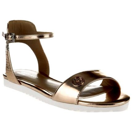 Plain Logo Metallic Sandals Sandal