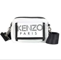 KENZO Casual Style Unisex Street Style Logo Shoulder Bags