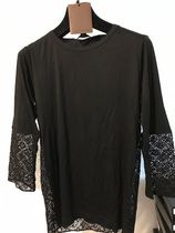 Louis Vuitton MONOGRAM Monogram Blended Fabrics Street Style U-Neck Long Sleeves
