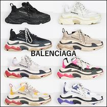 BALENCIAGA Triple S Unisex Logo Low-Top Sneakers