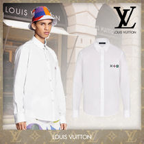 Louis Vuitton Camouflage Monogram Silk Street Style Long Sleeves Oversized