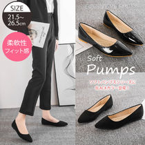 Rubber Sole Casual Style Enamel Suede Plain Party Style