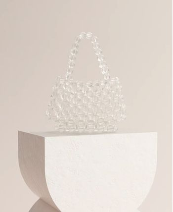 Casual Style Plain Party Style Crystal Clear Bags