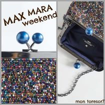 Weekend Max Mara Casual Style 2WAY Party Style Elegant Style Shoulder Bags