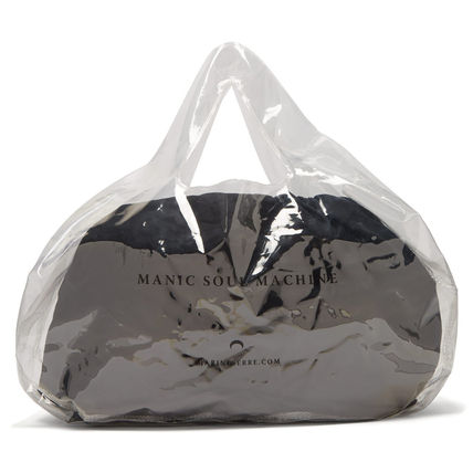 Casual Style Unisex Plain Crystal Clear Bags PVC Clothing