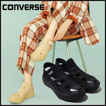 CONVERSE ALL STAR Platform Casual Style Street Style Plain Sport Sandals Logo