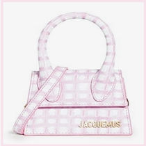 JACQUEMUS Casual Style 2WAY Leather Elegant Style Shoulder Bags