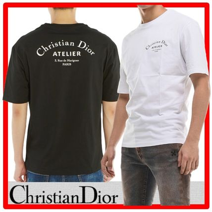 Christian Dior More T-Shirts Street Style Cotton Short Sleeves Luxury T-Shirts