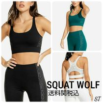 SQUAT WOLF Blended Fabrics Street Style Activewear Tops