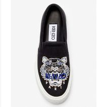 KENZO Rubber Sole Casual Style Street Style Logo Slip-On Shoes
