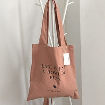 SECOND MORNING Casual Style Unisex Plain Logo Totes