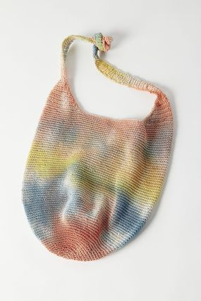 Casual Style Unisex Street Style Tie-dye Totes