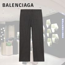 BALENCIAGA Other Plaid Patterns Street Style Cropped Pants