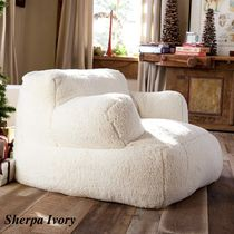 Pottery Barn Unisex Blended Fabrics Vervet Furniture Fur Furniture