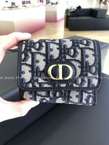 Christian Dior Canvas Folding Wallet Logo Folding Wallets