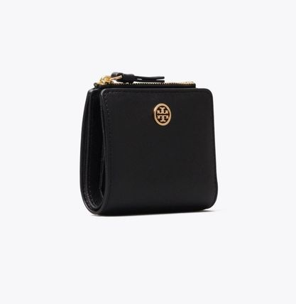 Tory Burch ROBINSON Leather Folding Wallet Small Wallet Folding Wallets