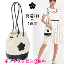 MARY QUANT Flower Patterns Casual Style Canvas Tassel Plain Purses