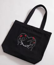AFENDS Casual Style Unisex A4 Plain Logo Totes