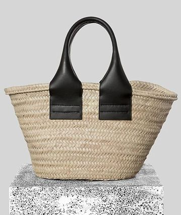 Casual Style Plain Leather Elegant Style Totes