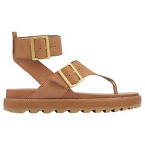 SOREL Rubber Sole Plain Leather Sandals Sandal