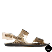 Off-White Open Toe Rubber Sole Casual Style Street Style Sport Sandals