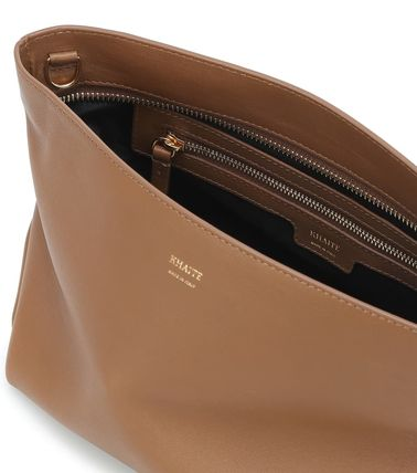 Casual Style Bag in Bag 3WAY Plain Leather Office Style