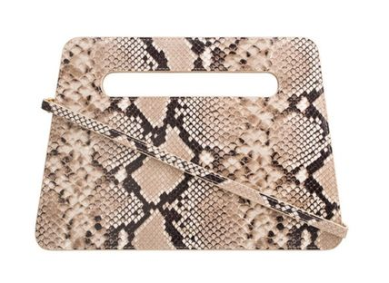 Casual Style 2WAY Leather Party Style Office Style Python