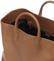 KHAITE Casual Style Plain Leather Office Style Formal Style  Totes