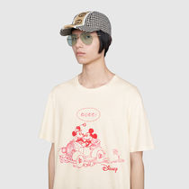 GUCCI Henry Neck Street Style Cotton Short Sleeves Henley T-Shirts
