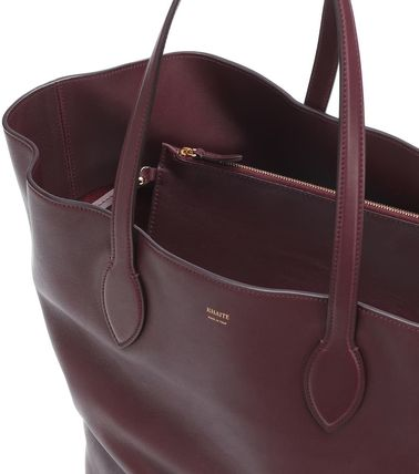 Casual Style Plain Leather Office Style Formal Style  Totes