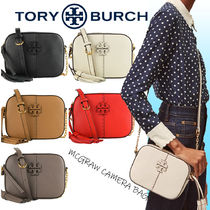 Tory Burch Casual Style Unisex Tassel Plain Leather Party Style