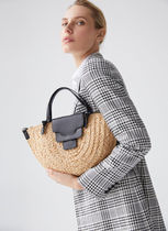 Uterque Casual Style Leather Handmade Elegant Style Bags