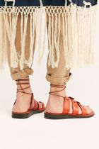 Free People Lace-up Casual Style Blended Fabrics Street Style