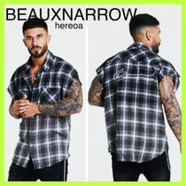 BEAUXNARROW Other Plaid Patterns Street Style Cotton Short Sleeves