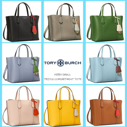 Tory Burch PERRY Casual Style 2WAY Plain Leather Party Style Office Style