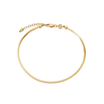 Casual Style Street Style Chain Silver 18K Gold