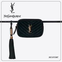Saint Laurent LOU Monogram Tassel 3WAY Leather Crossbody Hip Packs