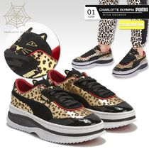Charlotte Olympia Leopard Patterns Round Toe Casual Style Collaboration Logo