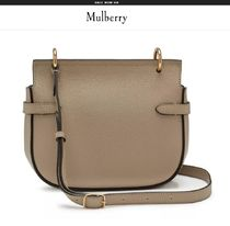 Mulberry Amberley  Casual Style Plain Leather Crossbody Shoulder Bags