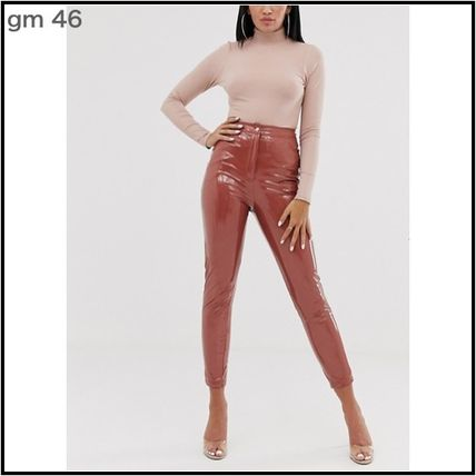 Casual Style Plain Party Style Elegant Style Skinny Pants
