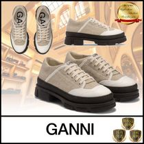 Ganni Rubber Sole Casual Style Plain Low-Top Sneakers