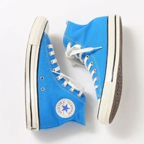 CONVERSE ALL STAR Rubber Sole Lace-up Casual Style Unisex Plain Logo