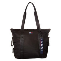 Tommy Hilfiger Casual Style Nylon Office Style Logo Totes