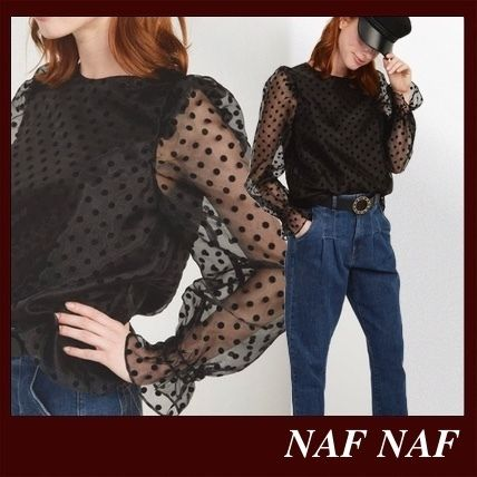 Dots Casual Style Long Sleeves Party Style Office Style