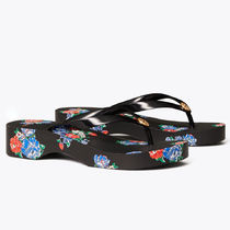 Tory Burch Flower Patterns Casual Style Sandals