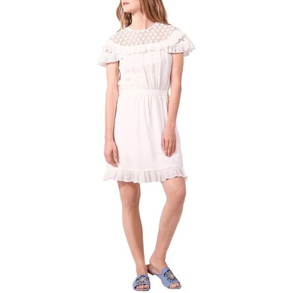 Short Casual Style Street Style Cotton Short Sleeves Lace