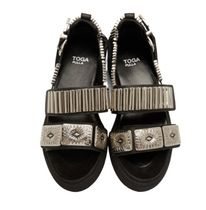 TOGA Rubber Sole Casual Style Suede Leather Elegant Style