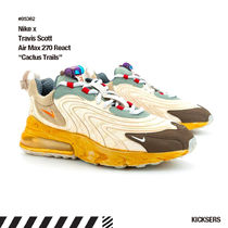 Nike AIR MAX 270 Unisex Street Style Collaboration Logo Sneakers
